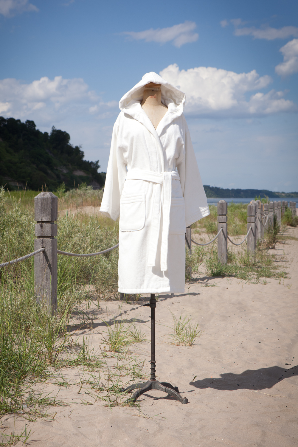 Hooded White Spa Robe