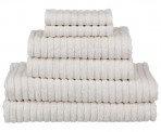 Natural or White Ribbed Towels