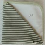 Green or Pink Stripe Receiving Blanket