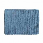 Faded Blue Ribbed Towels