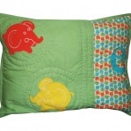 Elephant Standard Quilted Sham